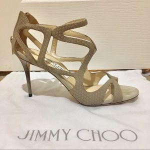 MUST SELL Jimmy Choo Caged Pumps in Suede Taupe